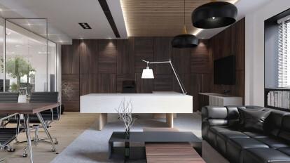 fabulous modern office interior design ideas   Modern Executive Office Design   Comelite Architecture ...