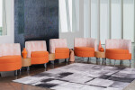 Leaf Ganging Lounge Chairs with Connecting Tables