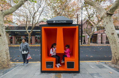 The Orange Phone Booths