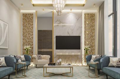Interior Design of Modern Luxury Residence