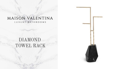 Diamond Towel Rack By Maison Valentina