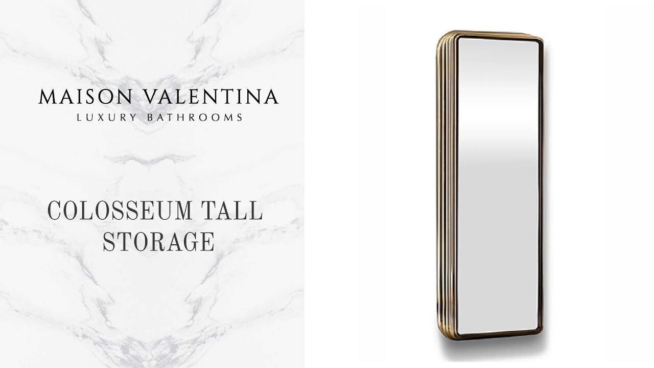 Colosseum Tall Storage Cabinet - Maison Valentina