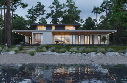 Villa on the River in Russia