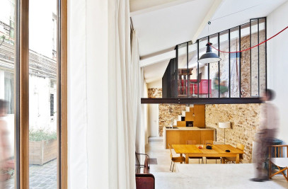 Three-Level Compact Loft in Paris