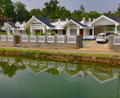 Contemporary House Design With River Frontage View Ideas, Kerala, India