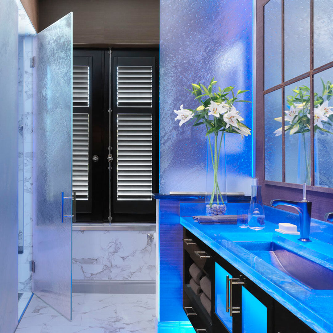 Glass Bathroom and Shower Panel