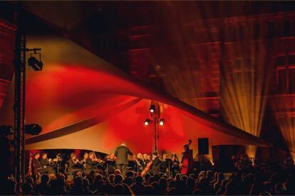 AddOn rental architectural sail - classical concert Bornem (Belgium)