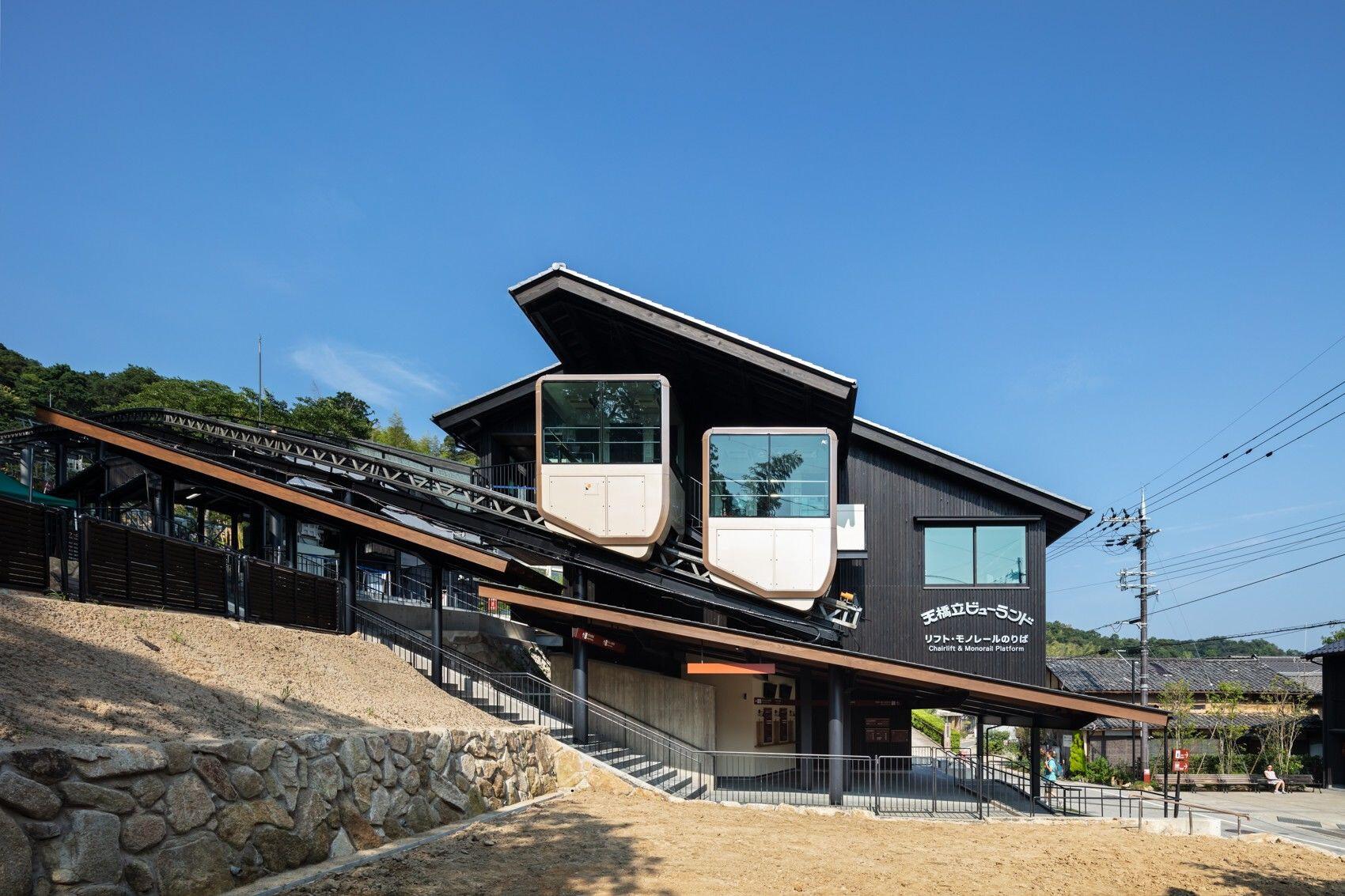 Monorail station of Amanohashidate view land