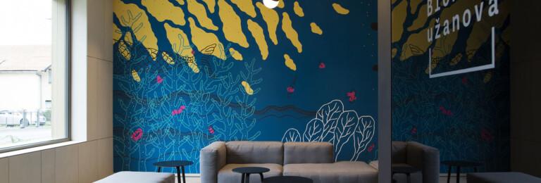 "A mural ""Aquarium"" by Ena Jurov"