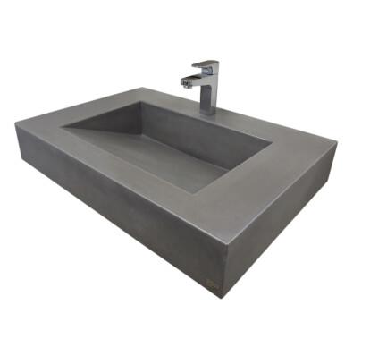 "30"" ADA Floating Concrete Ramp Sink"