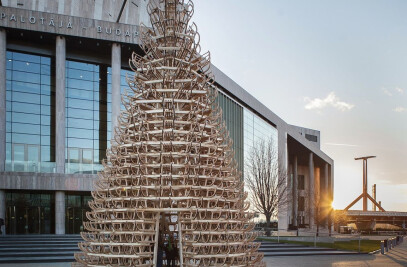 Sledge Tree - Christmas Installation