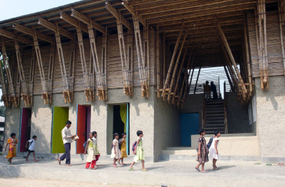 Handmade school in Bangladesh