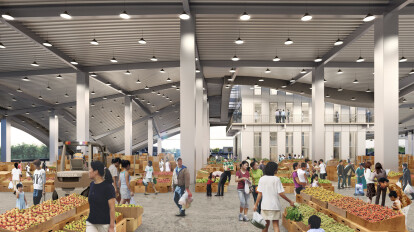 The open-air market will also be an important social hub