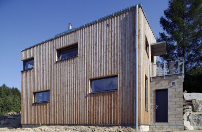 Small house on hillside