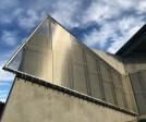 Architectural metal mesh cladding - Levitt Pavilion Denver