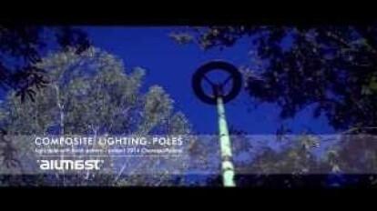 Composite lighting column with birch pattern | Trailer | ALUMAST