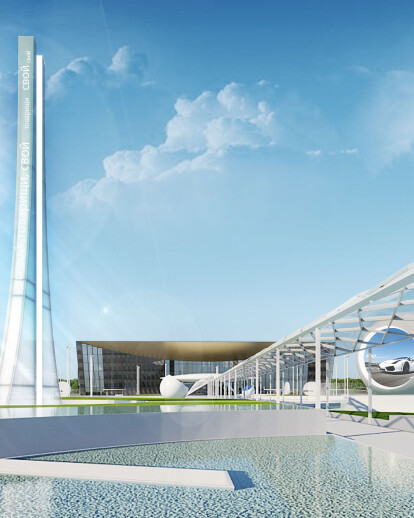The improvement of the territory / Gagarin Airport