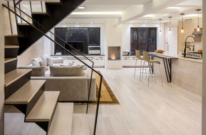 Trapeze Stair Apartment