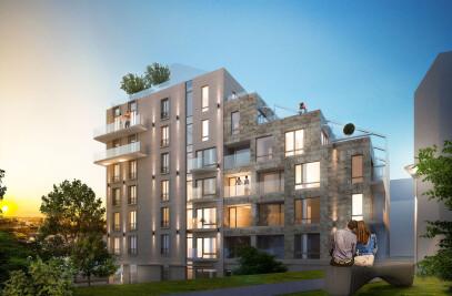 Modern Apartment Building M1A