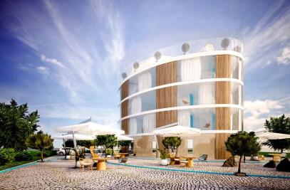 Modern Hotel V8 on the Beach