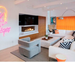 The Bidore 140 adds to the modern design of Coco Rocha's living room.