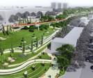 Proposed circular ramp and the Sculpture Garden
