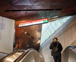 Escalator to main entrance