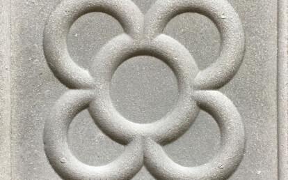 """Classic square trottoir tile with floral design """"AP13"""""""