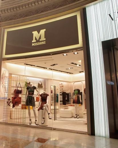 Arredo 91 Produzione Srl.M Missoni The Forum Shops Mall Boutique At Caesars Correa Granados Architects Archello