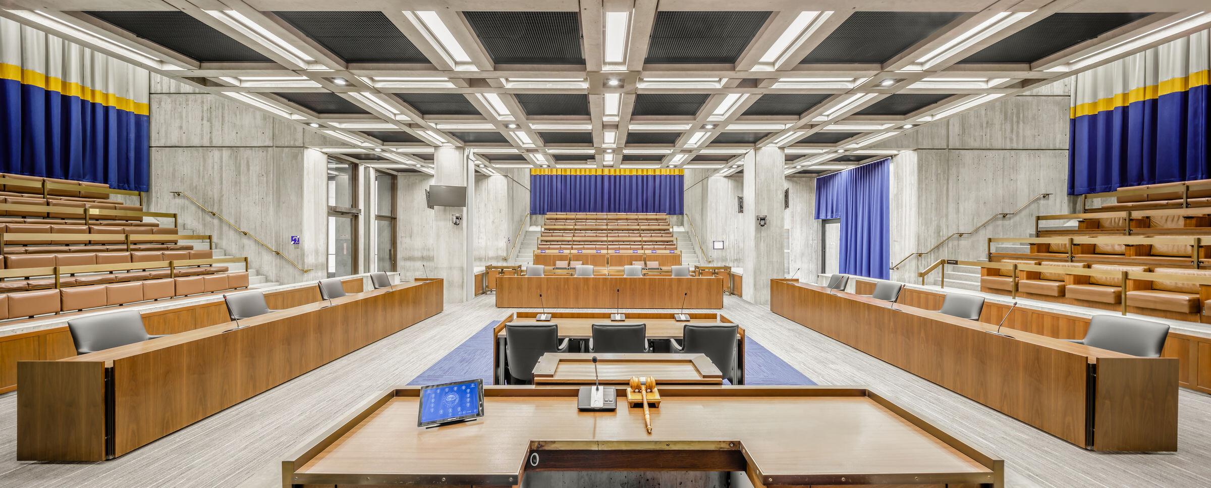 Boston City Hall Council Chambers