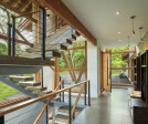 Leaning Timber Haus, Entry Hall and Stair