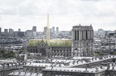Notre-Dame's roof into Public Greenhouse