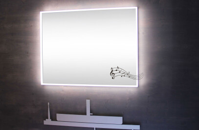 A-line LED Illuminated mirror with sound
