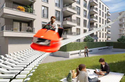 The first VR real estate roller coaster