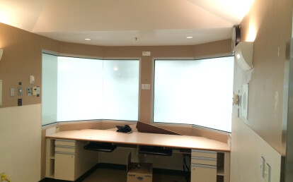 Vario Privacy Glass in a hospital (Glass OFF)