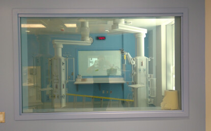 Vario Privacy Glass in a hospital - Glass ON