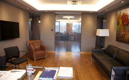 Vario Privacy Glass in an office - Glass ON
