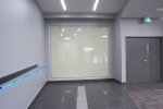 Vario Privacy Glass in a warehouse - Glass OFF
