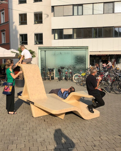 Lounge furniture for the city of Graz