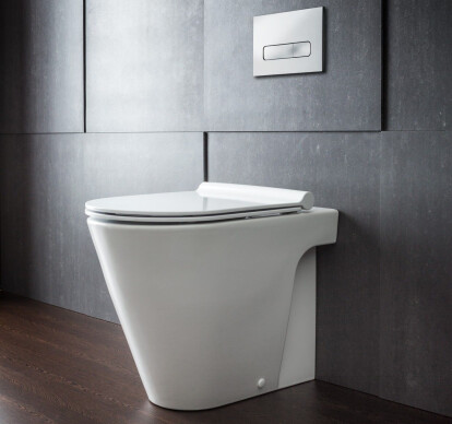 Zero 55 Floor Mount Toilet Pan with Slim Seat