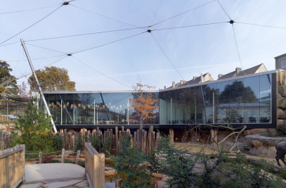 Restaurant and Aviary at the Antwerp Zoo