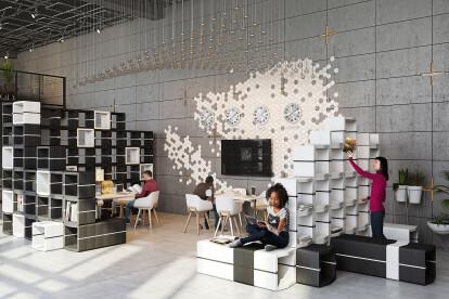 U-CUBE modular office furniture system