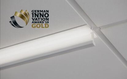 T-BAR UP, Awarded the Gold German Innovation award in lighting