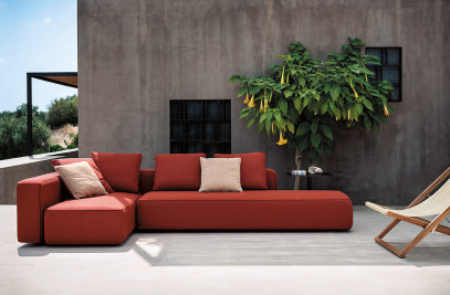 DANDY upholstered sofa system for outdoor