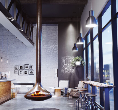 Callista | Triple-Sided Suspended Vapor-Fire Fireplace