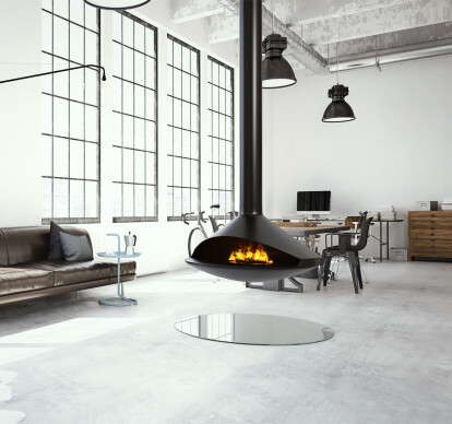 Gioia | Single-Sided Suspended Vapor-Fire Fireplace