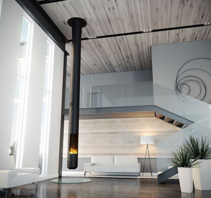 Lance | Suspended Fireplace