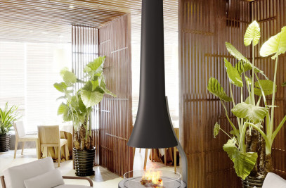 Teia | Suspended Vapor-Fire Fireplace