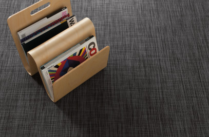 Wall-to-wall flooring in Ikat, Deep Grey