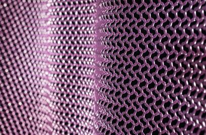 alphamesh ring mesh 12.0 stainless steel RAL 4001 red purple